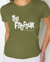 Women's Fitted Green Distressed Shirt